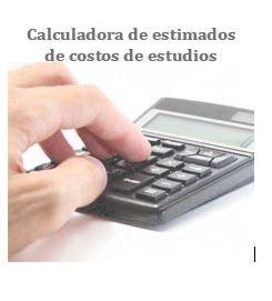 Calculadora de estimados de costos de estudios